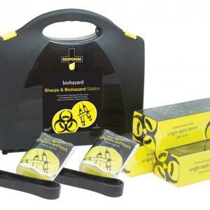 Sharps & Biohazard Station, Plastic Portable
