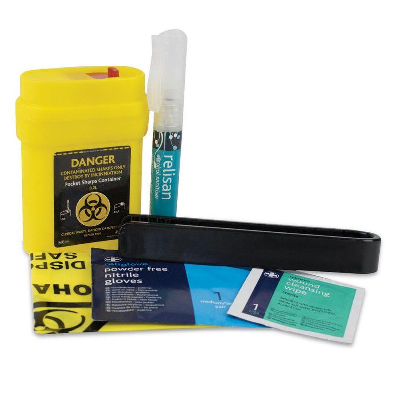 Sharps Single Use Pack, Cardboard Case
