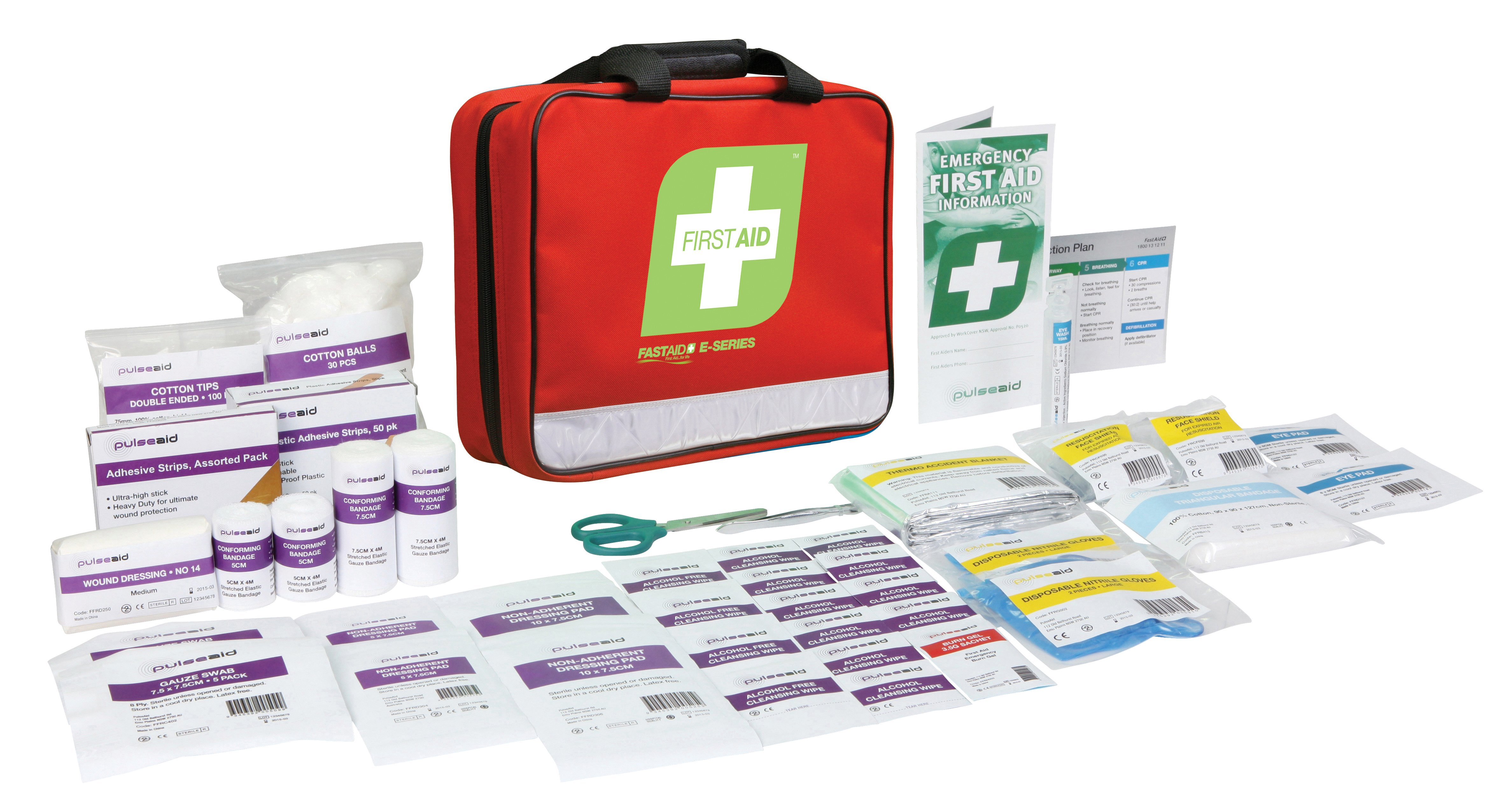 E-Series Responder First Aid Kit, Red Soft Pack