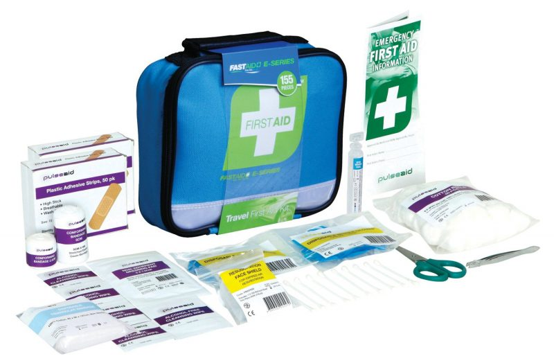 E-Series Travel First Aid Kit, Blue Soft Pack