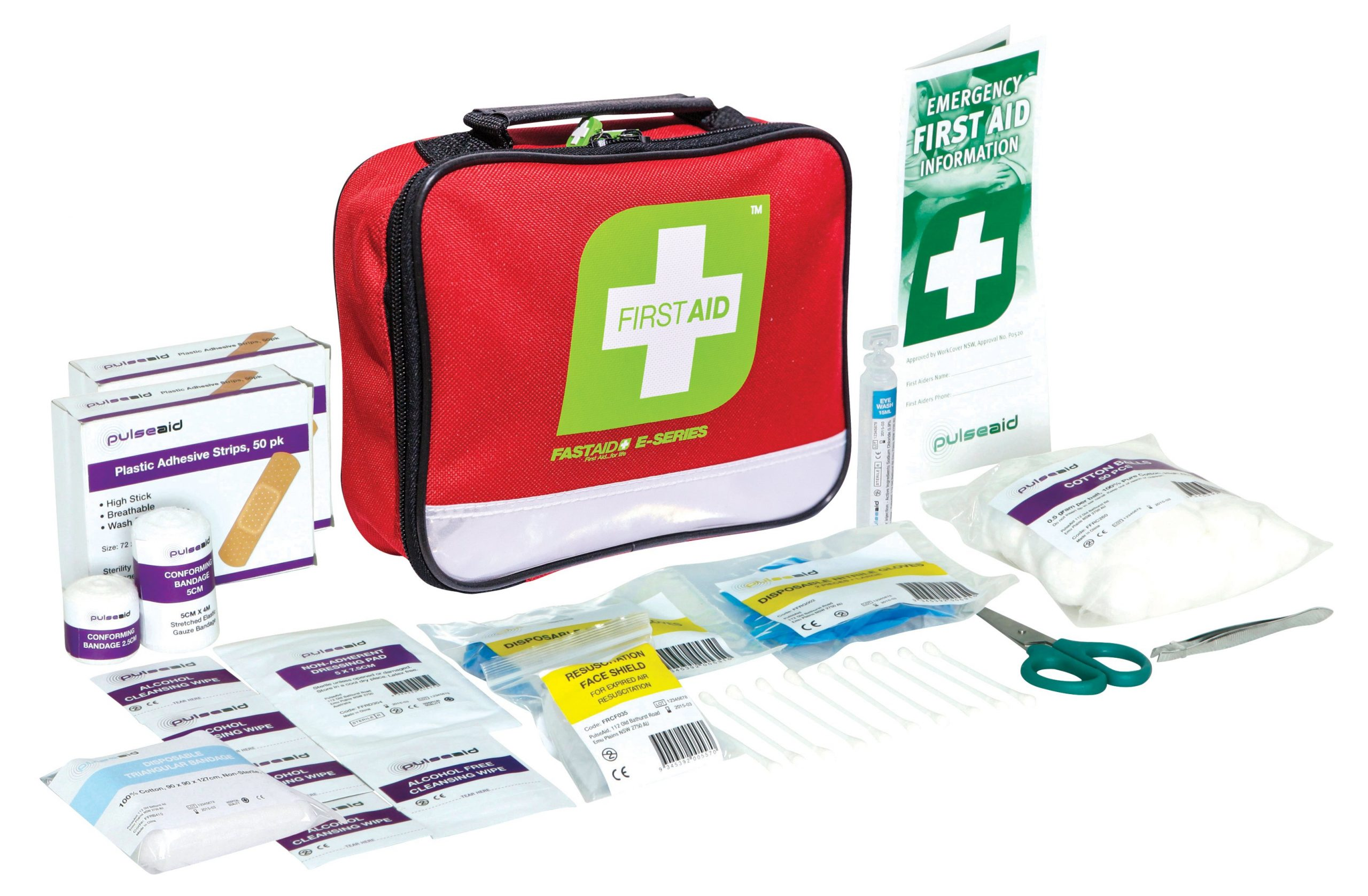 E-Series Travel First Aid Kit, Red Soft Pack
