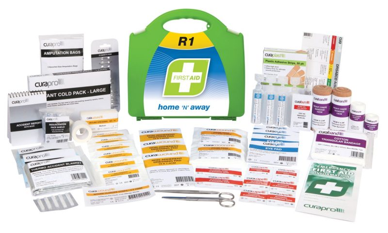 R1 Home 'N' Away First Aid Kit, Plastic Portable