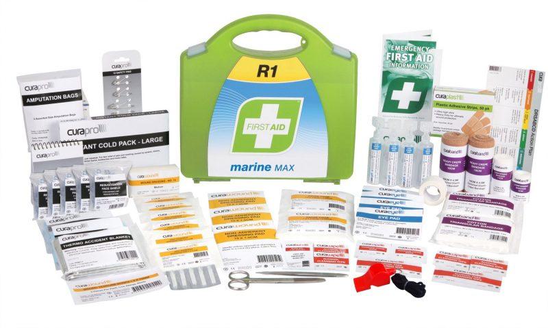 R1 Marine Max First Aid Kit, Plastic Portable