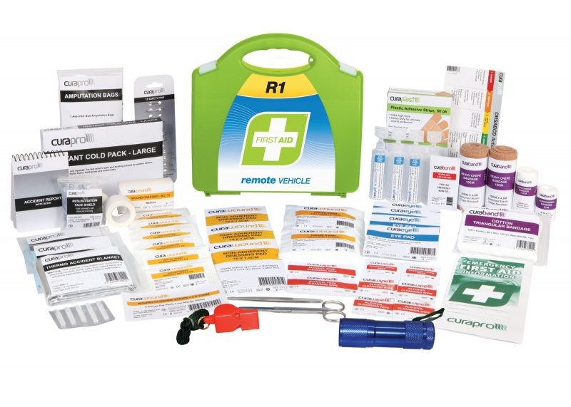 R1 Remote Vehicle First Aid Kit, Plastic Portable