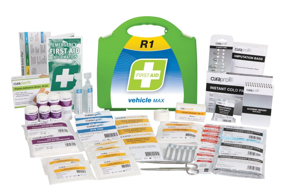 R1 Vehicle Max First Aid Kit, Plastic Portable