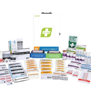 R2 Constructa Max First Aid Kit, Metal Wall Mount