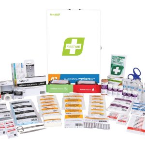 R2 Electrical Workers First Aid Kit, Metal Wall Mount