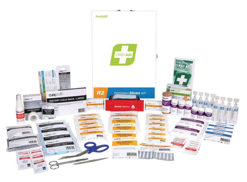 R2 Foodmax Blues First Aid Kit, Metal Wall Mount
