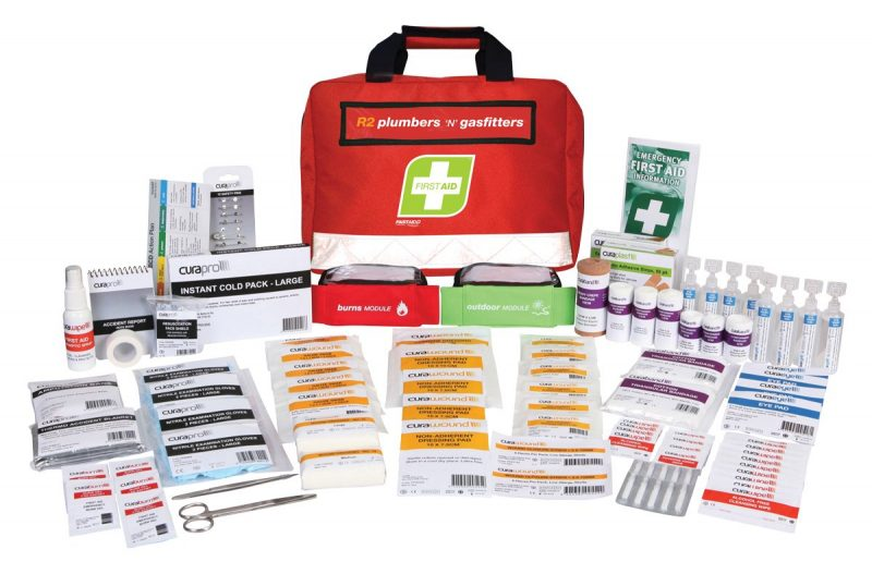 R2 Plumbers & Gasfitters First Aid Kit, Soft Pack