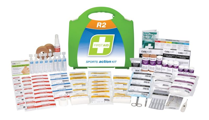 R2 Sports Action First Aid Kit, Plastic Portable