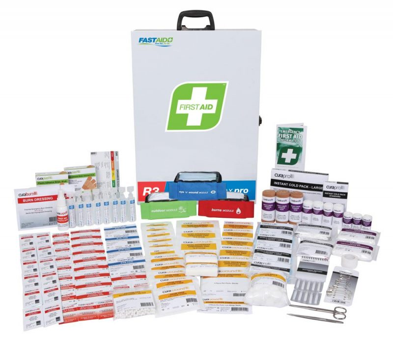 R3 Constructa Max Pro First Aid Kit, Metal Wall Mount