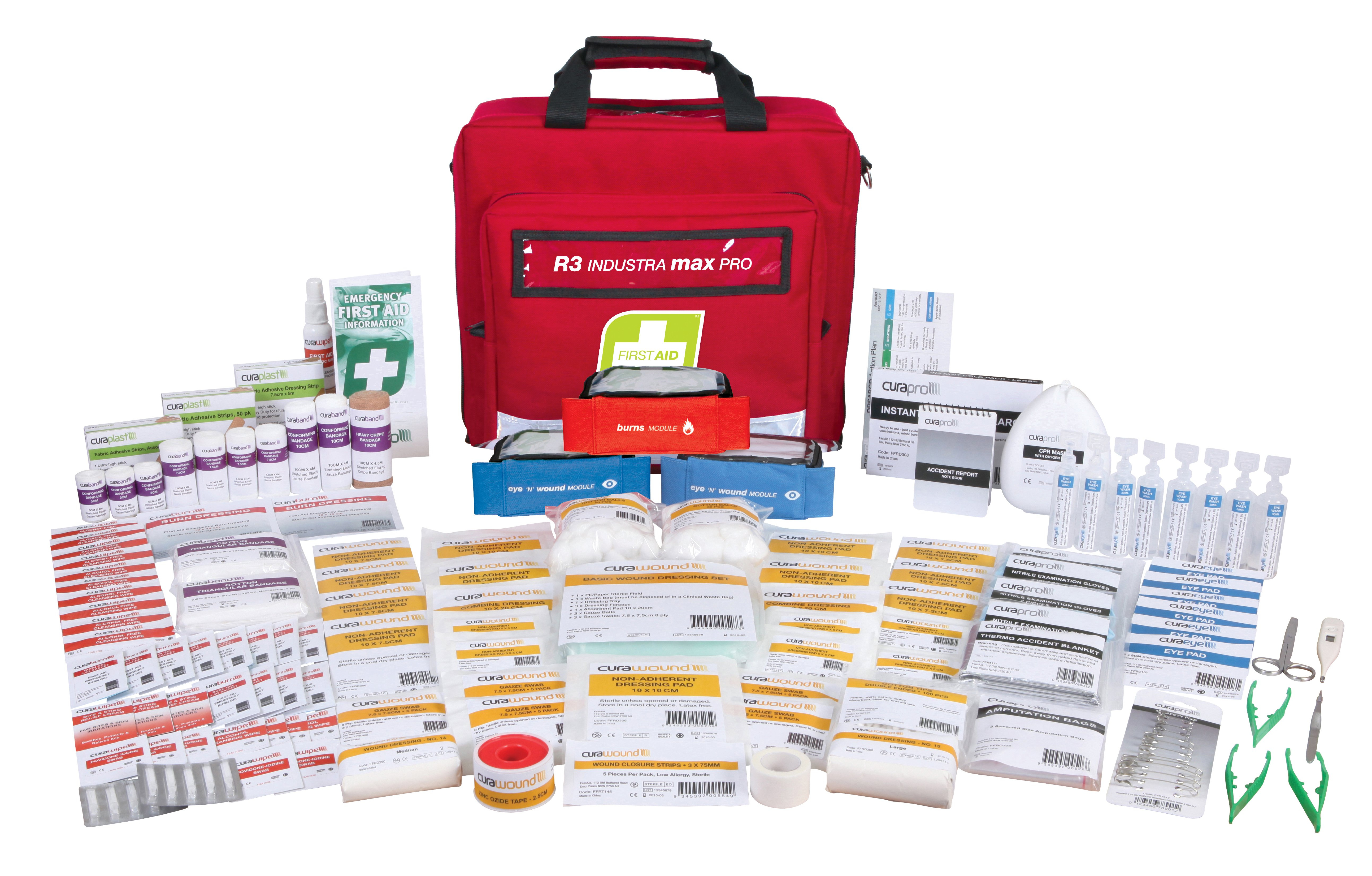 R3 Industra Max Pro First Aid Kit, Soft Pack