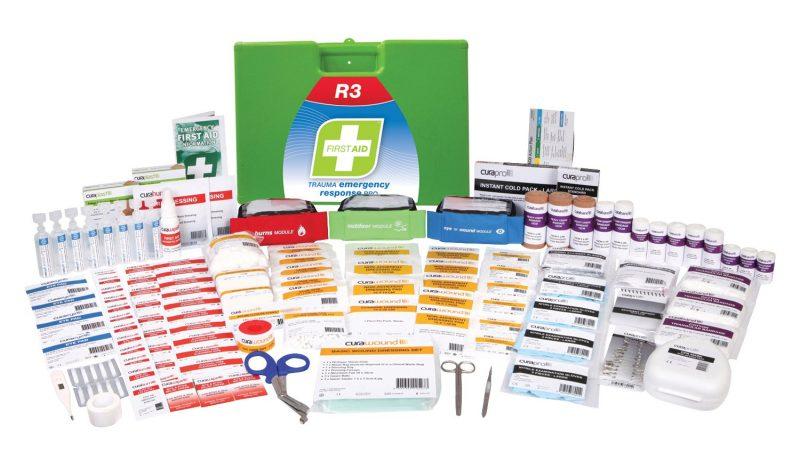 R3 Trauma Emergency Response Pro First Aid Kit, Plastic Portable