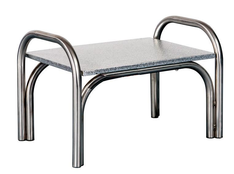1 Step, Stainless Steel Frame