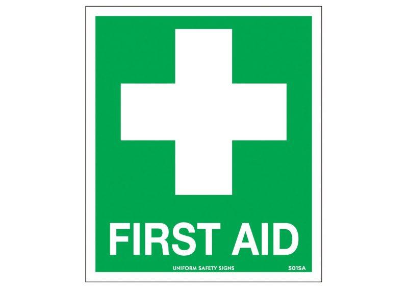 First Aid Kit Sticker, 115 x 170mm