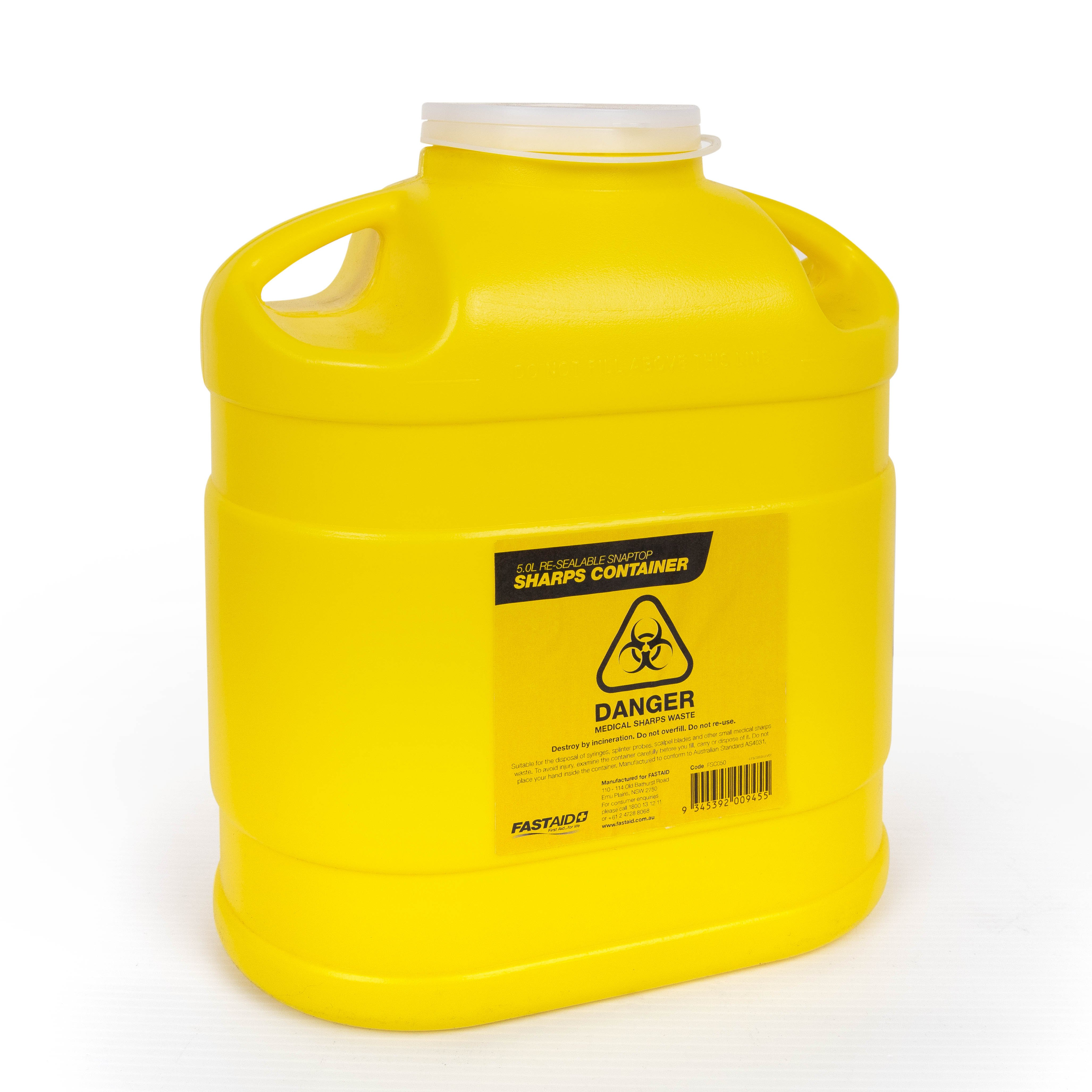 Plastic Sharps Container, 5L