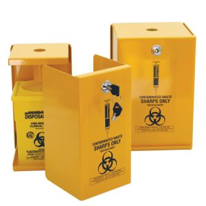 5L Sharps Metal Safe, Yellow Armour