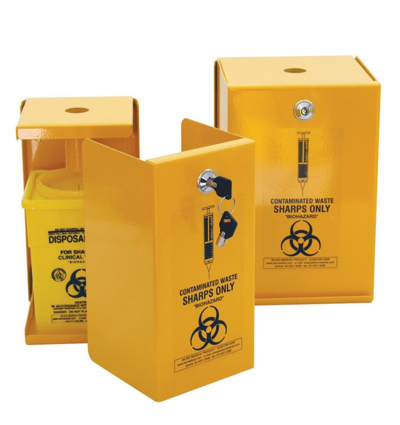 5L Sharps Metal Safe, Yellow Armour