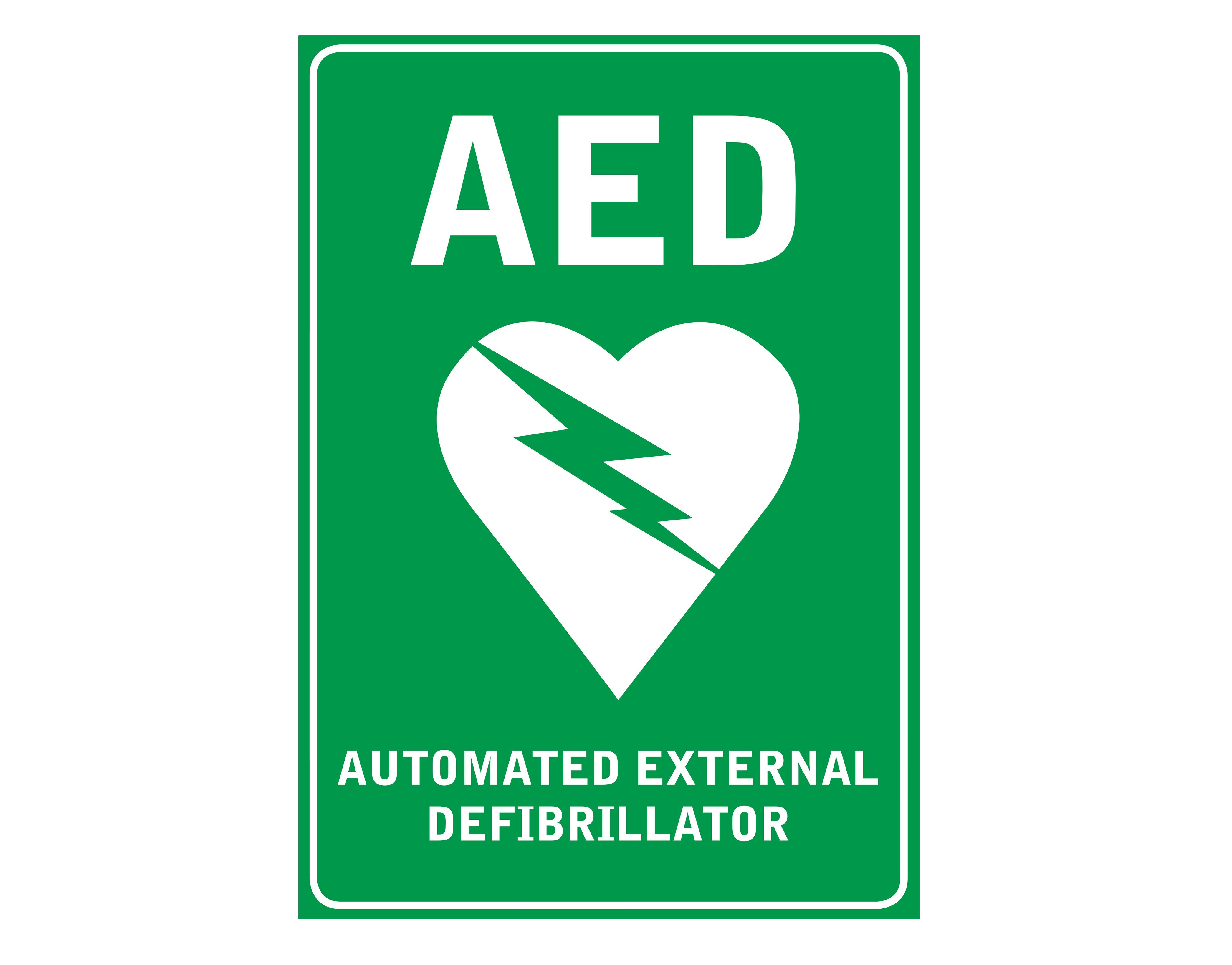 AED Wall Sign, 225mm x 300mm