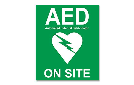 AED Window Sticker, 100 x 120mm