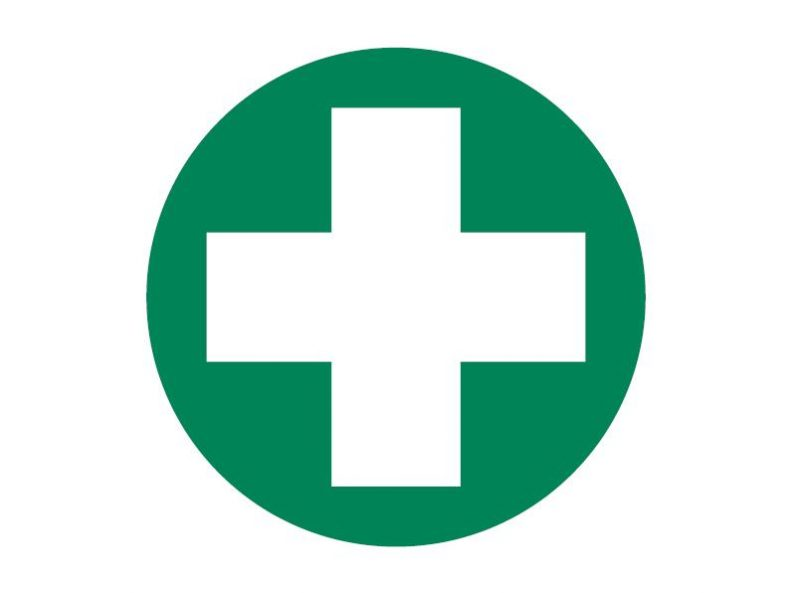 First Aid Cross Only Decal, 50mm diameter