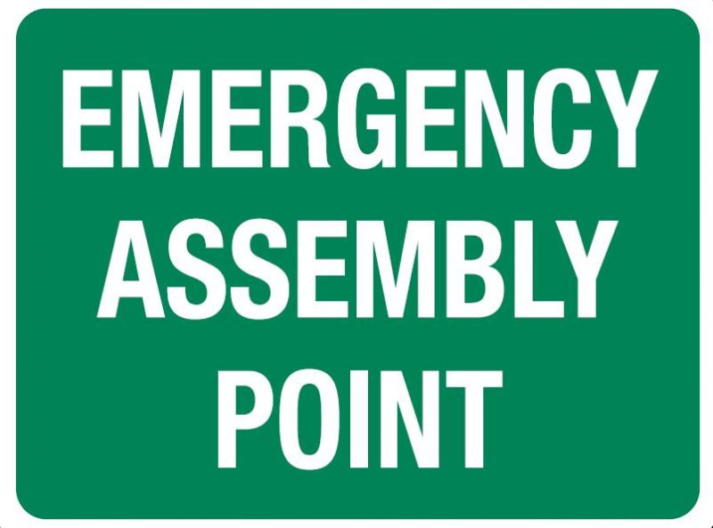 Emergency Assembly Point Sign, 600 x 450mm