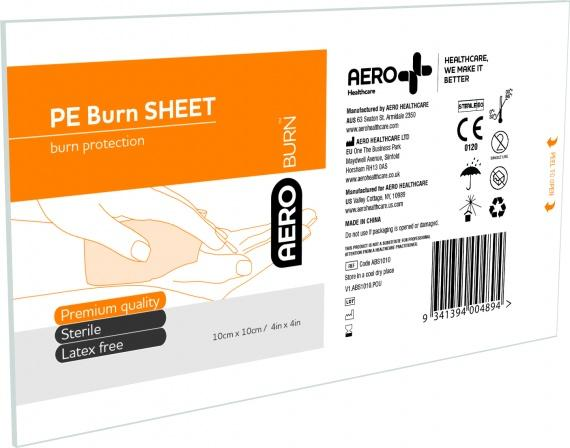 Polyethylene Burn Sheet, Large, 10 x 10cm